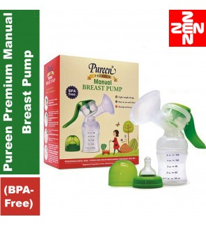 Pureen Premium Manual Breast Pump (BPA-Free)
