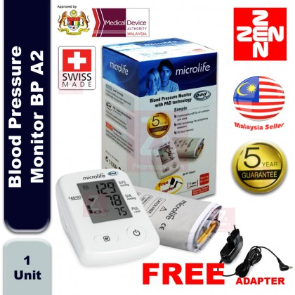 Microlife Blood Pressure Monitor BP A2(5 years guarantee Free Adapter)