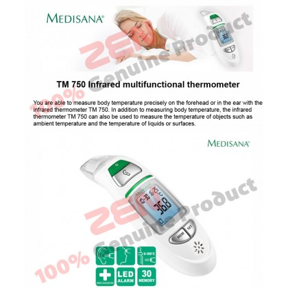 Medisana TM 750 6 in1 Multi-Functional Ear Forehead Thermometer (3 years warranty)