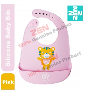 BABY SILICONE BIB (PINK)