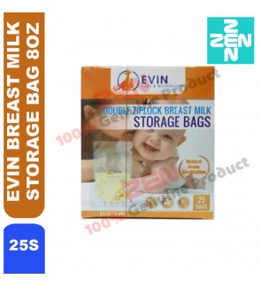 EVIN BREAST MILK STORAGE BAG 8OZ 25S