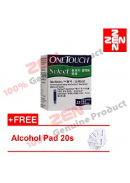 One Touch Select Simple Test Strip 25S Free Alcohol pad 20s