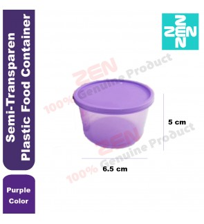 Elianware Semi Transparent Plastic Food Container ( Purple Color )