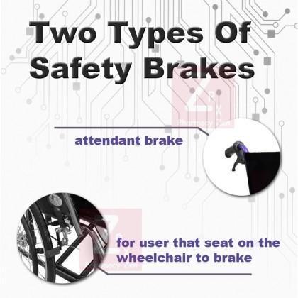 Lightweight wheelchair Aluminium 12KG (Purple Frame)