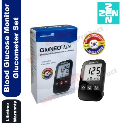 Gluneo Lite Blood Glucose Monitor Glucometer And Test Strips