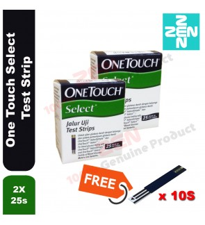 One Touch Select Test Strip 25s X 2 FREE 10S