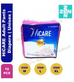 HiCARE Adult Pants Diapers 10s per bag ( Unisex )