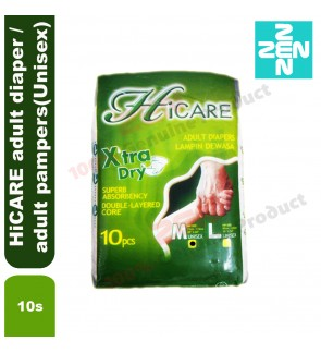 HiCARE adult diaper / adult pampers 10s per bag (Unisex)