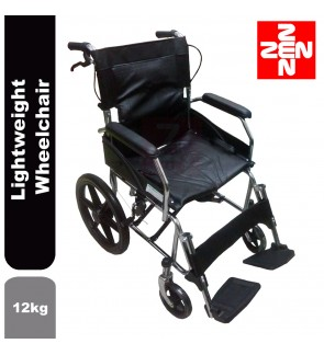 Foldable Small wheel Lightweight Travelling Wheelchair 12kg (Black)(WC103)