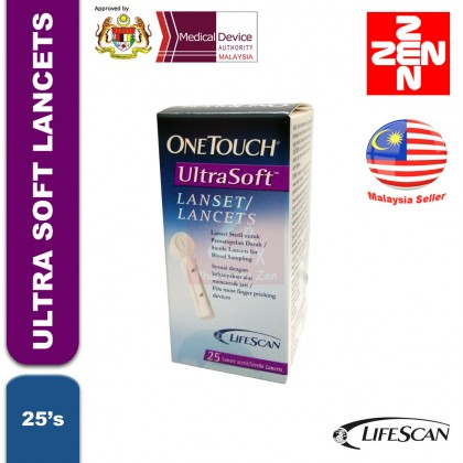 One Touch Ultra Soft Lancets 25's