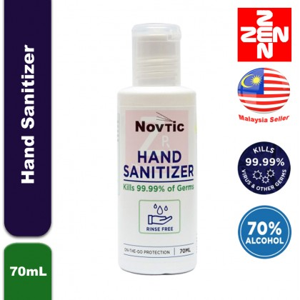 NOVTIC HAND SANITIZER 70ML(70% alcohol to kill 99.99% of germs)
