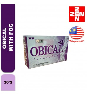 OBICAL WITH FOS (30 TABLETS)