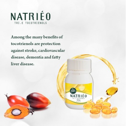 Natrieo Tri.E (Vitamin E) Tocotrienols 50mg(60 capsules)