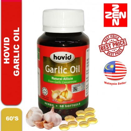 Hovid Garlic Oil Natural Allicin (60 Softgels)