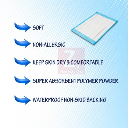 """PREMIUM Disposable 4 Ply Underpad/ Under Pad 60cmx90cm/17""""x36""""(10 sheets/packet)"""