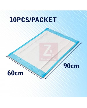 """DISPOSABLE 4 PLY UNDERPAD/ UNDER PAD 60cmx90cm/17""""x36""""(10 sheets/packet)"""