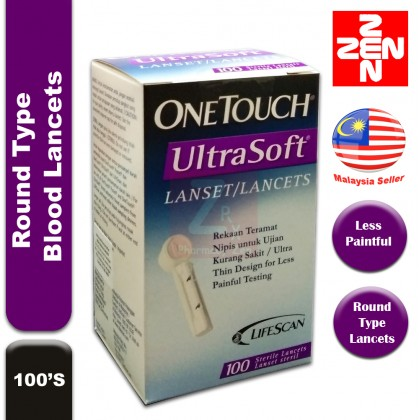 One Touch Ultra Soft Blood Lancets (100's/box)