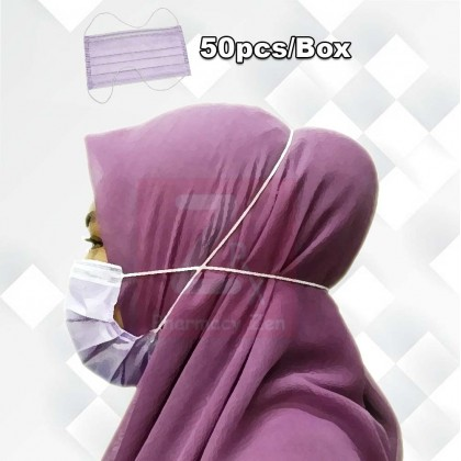 Medicos Submicron 3ply Hijab Surgical Face Mask 50pc(box)
