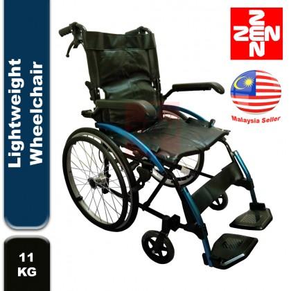 Lightweight Wheelchair 11kg-Blue(Flip Up Arm Rest, PVC Seat)