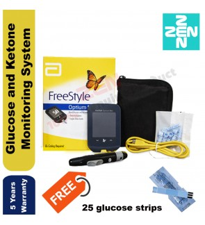 FreeStyle Optium Neo Glucometer Blood Glucose and Ketone Monitoring System +25 glucose strips