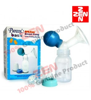 Pureen Breast Pump With Bottle