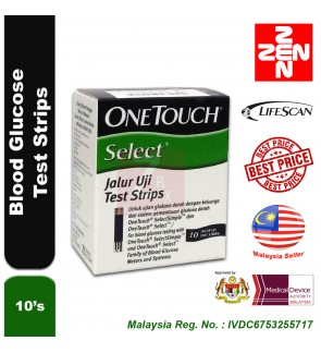 One Touch Select Simple Test Strip 10s